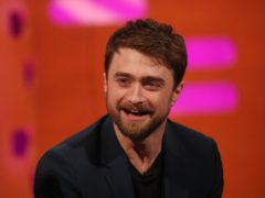 Daniel Radcliffe during filming for the Graham Norton Show (Isabel Infantes/PA)