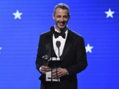 Succession star Jeremy Strong won best actor in a drama series for Succession at the 25th annual Critics' Choice Awards (AP Photo/Chris Pizzello)