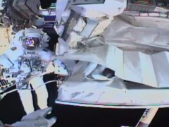 Italian astronaut Luca Parmitano works outside the International Space Station during a spacewalk (NASA via AP)