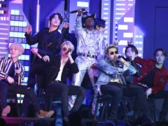 BTS made Grammy Award history as they joined Lil Nas X on stage for a performance of his monster hit Old Town Road (Matt Sayles/Invision/AP)
