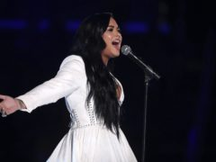 Demi Lovato delivered a powerful performance during an emotional return to the stage after almost two years away (Matt Sayles/Invision/AP)