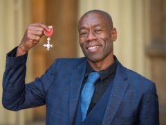 Andrew Roachford with his MBE (Dominic Lipinski/PA)