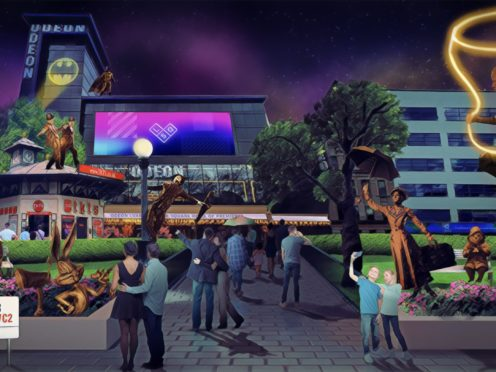 An artist's impression of the Scenes in the Square display (Heart of London Business Alliance/PA)