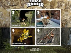 The collection includes four stamps of Tomb Raider, from between 1996 – 2013 (Royal Mail/PA)