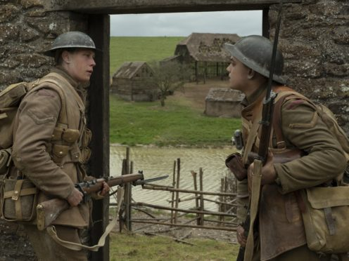 (from left) Schofield (George MacKay) and Blake (Dean-Charles Chapman) in 1917, the new epic from Oscar®-winning filmmaker Sam Mendes.