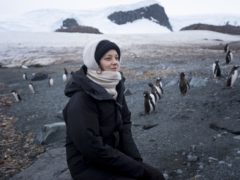 Marion Cotillard visits Trinity Island with Greenpeace to observe penguins and whale identification work (Abbie Trayler-Smith/Greenpeace/PA)