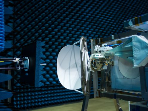 COLka undergoing testing in the Hertz test chamber at the European Space Agency in The Netherlands (M Cowan/ESA/PA)