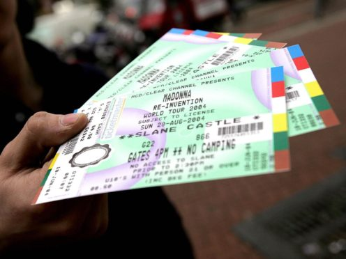 The pair re-sold tickets at a profit for numerous high-profile events (Cathal McNaughton/PA)