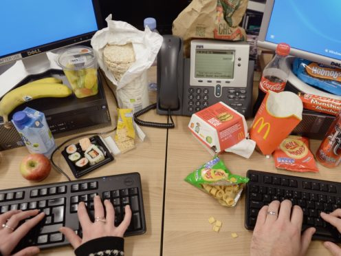 Study suggests people eat healthy or unhealthy food based on what they think their social media peers consume (Anthony Devlin/PA)