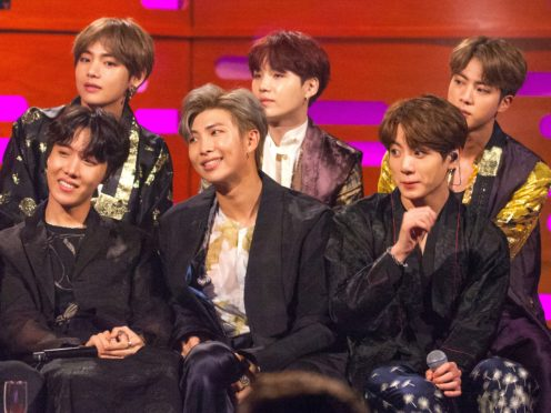 K-pop group BTS's latest album Map Of The Soul: 7 is number one (Tom Haines/PA)