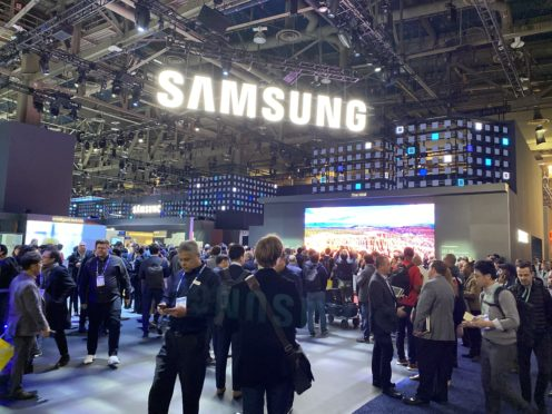 The Samsung stand at the Consumer Electronics Show (Martyn Landi/PA)
