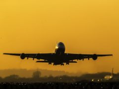 The scientists looked at the effects of climate change on plane take-offs (Steve Parsons/PA)