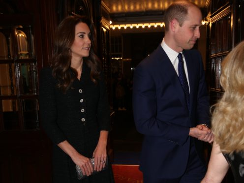 The Duke and Duchess of Cambridge attend a special performance of Dear Evan Hansen at the Noel Coward Theatre in London (Ian Vogler/Daily Mirror/PA)