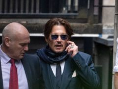 Actor Johnny Depp outside the High Court in London (Aaron Chown/PA)