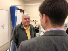 David Southworth had an operation to fit the advanced implant at Essex Cardiothoracic Centre (East Suffolk & North Essex NHS Foundation Trust/PA)