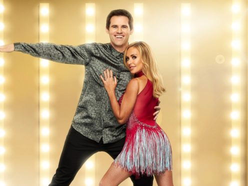 Dancing On Ice's Kevin Kilbane and Brianne Delcourt are engaged (ITV)