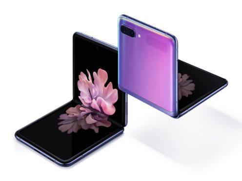 Samsung's new Galaxy Z Flip foldable smartphone. (Samsung)