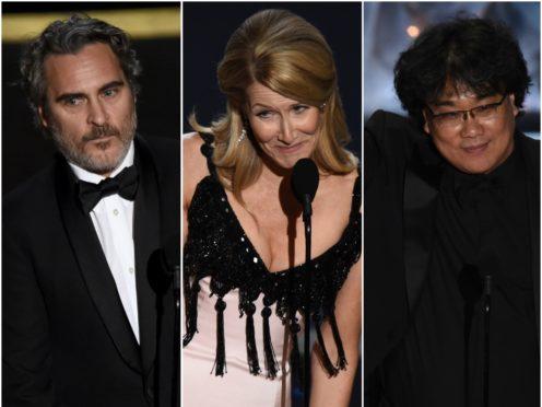 Joaquin Phoenix, Laura Dern and Bong Joon-ho all took home awards (Chris Pizzello/AP)