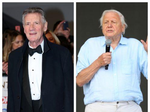 Sir Michael Palin and David Attenborough (PA)