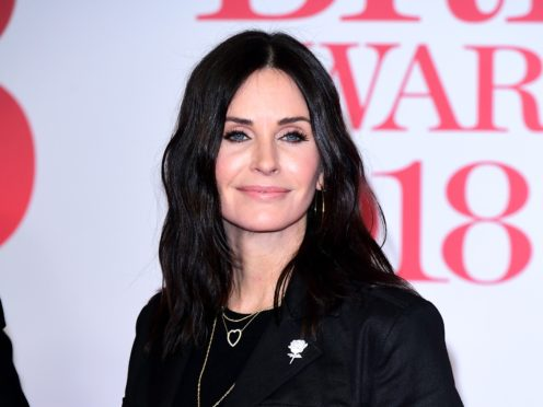 Courteney Cox shared the video on Instagram (Ian West/PA)