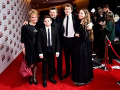 Andy Serkis and Lorraine Ashbourne with their children Sonny Serkis, Ruby Serkis and Louis George Serkis (Ian West/PA)