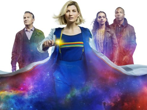 Bradley Walsh, Jodie Whittaker, Mandip Gill and Tosin Cole in Doctor Who (PA)