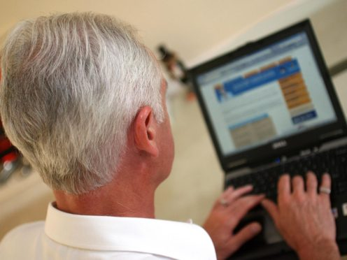 Older people who are not internet-savvy risk being left behind as vital services increasingly turn digital amid the coronavirus outbreak (Peter Byrne/PA)