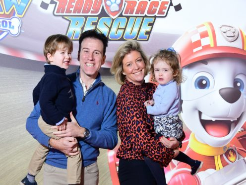 Anton Du Beke and his wife Hannah with George and Henrietta (Ian West/PA)
