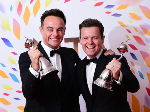 Ant and Dec hosted Saturday Night Takeaway in an empty studio (Ian West/PA)