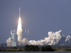 A United Launch Alliance Atlas V rocket lifts off (John Raoux/AP)