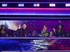 Cheryl was stunned when close friend Kimberley Walsh appeared (Tom Dymond/BBC/PA)