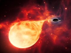 Artist's impression depicts a star being torn apart by an intermediate-mass black hole (PA/ESA/Hubble/M Kornmesser)