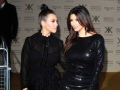 Kourtney Kardashian and Kim Kardashian West (Ian West/PA)