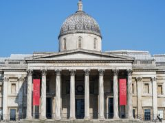 The National Gallery in London's Trafalgar Square remains closed (Aaron Chown/PA)