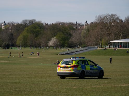 Police presence in Regent's Park, London (Aaron Chown/PA)