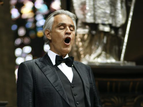Italian tenor Andrea Bocelli (Luca Rossetti/PA)