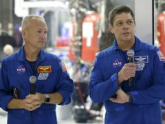Nasa astronauts Bob Behnken and Doug Hurley (Alex Gallardo/AP)