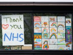 Hair clippers and hair dye, rainbow drawings and popular items such as toilet paper could go on display (Aaron Chown/PA)