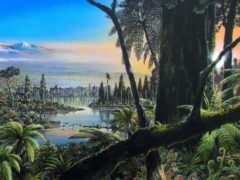 An artist's impression of what the Antarctic rainforest would have looked like 90 million years ago (James McKay/Alfred Wegener Institute)