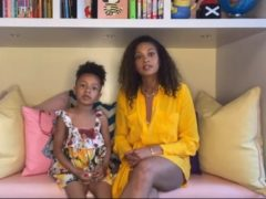 Alesha Dixon and daughter Azura (National Emergencies Trust/PA)