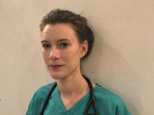 Katie Sanderson is a junior doctor who has been working on a coronavirus ward in London (handout/PA)