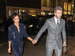 David and Victoria Beckham (Dominic Lipinski/PA)