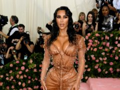 Kim Kardashian West was among the celebrities looking back on previous Met Galas after the 2020 event was cancelled (Jennifer Graylock/PA)