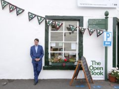 Festival director Adrian Turpin outside The Open Book as it is announced the Wigtown Book Festival will take place online in 2020 (Wigtown Book Festival/PA)
