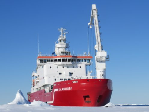 Agulhas II, the ship from which the autonomous underwater vehicles were deployed to map the seafloor (Julian Dowdeswell/University of Cambridge)
