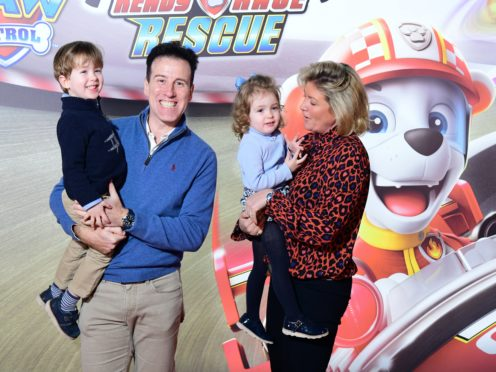 Anton and Hannah Du Beke with George and Henrietta (Ian West/PA)