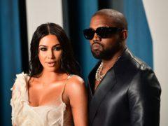 Kim Kardashian West shared a heartfelt message as she wished husband Kanye West happy birthday (Ian West/PA)
