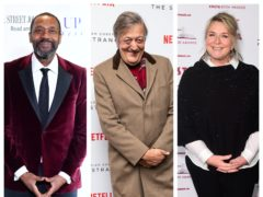 Sir Lenny Henry, Stephen Fry and Fern Britton (PA)