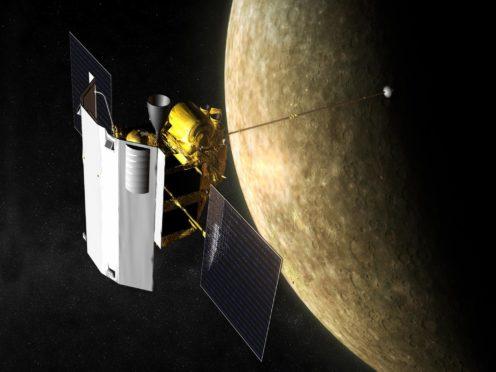 Artist impression of the Messenger spacecraft in orbit at Mercury (Nasa/Johns Hopkins University Applied Physics Laboratory/Carnegie Institution ofWashington)