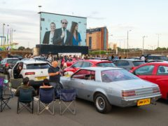 People watch the premiere of Break at the Brent Cross Drive-In (Dominic Lipiniski/PA)